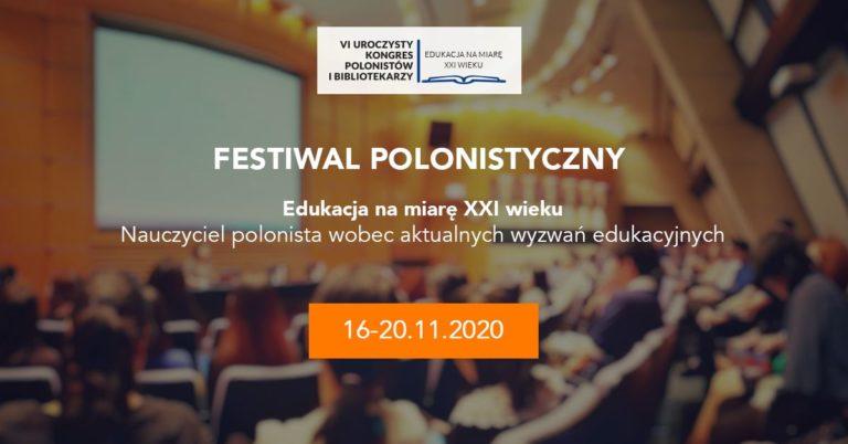 Redakcja FWS na VI Uroczystym Kongresie Polonistów i Bibliotekarzy (16-20.11.2020)!